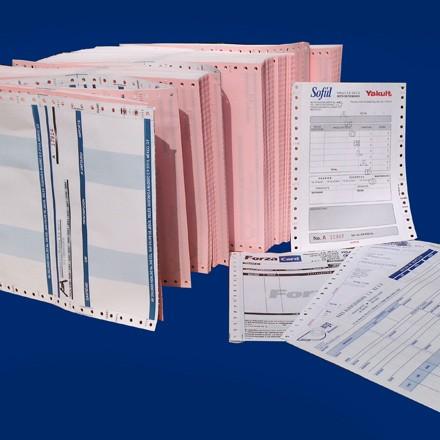 Órdenes de compra, Tarjetas de asistencia, Recibos de nómina, Marbetes de inventario, Reportes, Papel stock, Remisiones, etc.